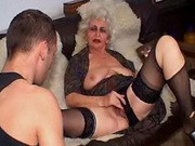 Old slut abused by young cock